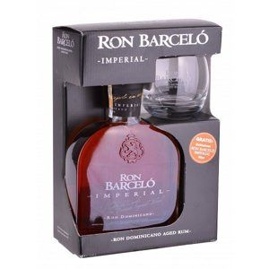 Ron Barcelo Imperial 0,7l 38% + 1x sklo GB
